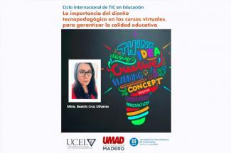 Docente UMAD participa en Ciclo Internacional de TIC en educación