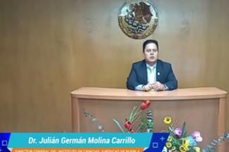 Rinde Germán Molina su X informe de labores