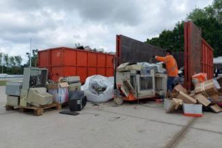 Recupera gobierno estatal más de 21 toneladas de residuos con