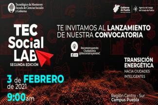Organizan Agencia de Energía e ITESM Puebla concurso Tec Social Lab 2021