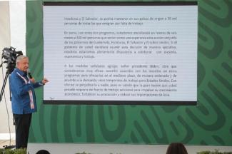 Invertir en programas de desarrollo para resolver de fondo fenómeno migratorio, propone AMLO
