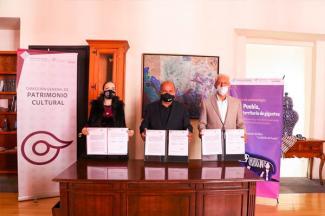 Suman esfuerzos Cultura y Concytep para difusión del patrimonio de Puebla