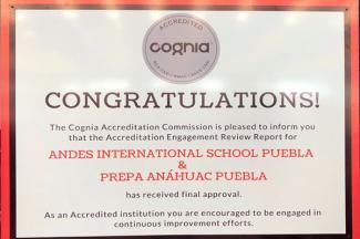 Cognia acredita al Andes International School Puebla y a Prepa Anáhuac Puebla