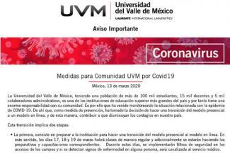 La UVM suspende clases presenciales; la UPAEP reprograma eventos masivos