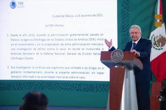 AMLO instruye a SRE publicar expediente completo de investigación contra el general Salvador Cienfuegos Zepeda
