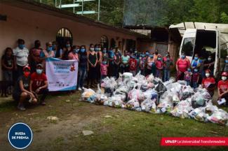 Estudiantes de la UPAEP y sociedad, se solidarizan con habitantes de la Sierra Norte de Puebla