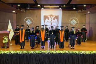Celebran a distancia, Graduación en la Anáhuac Puebla
